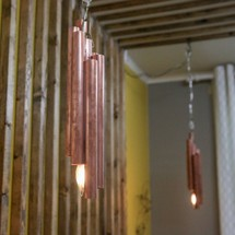 Hanging copper lamp