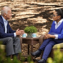 Former Vice President Joe Biden and Oprah Winfrey