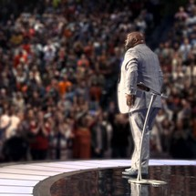 Pastor John Gray onstage at Lakewood Church in Houston, Texas
